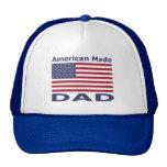 Papá hecho americano gorros