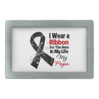 Papa Hero in My Life Skin Cancer Belt Buckle