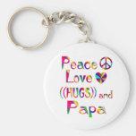 Papa Hugs Key Chains