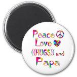 Papa Hugs Magnets