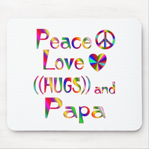 Papa Hugs Mouse Pads