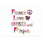 Papa Hugs Postcards