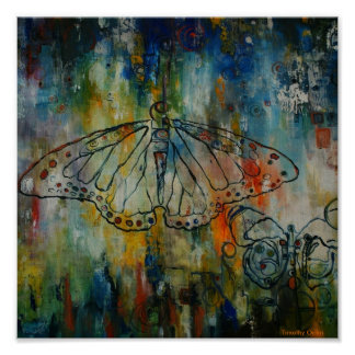Papa & I Butterfly Canvas Print