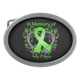 Papa  - In Memory Lymphoma Heart Belt Buckle