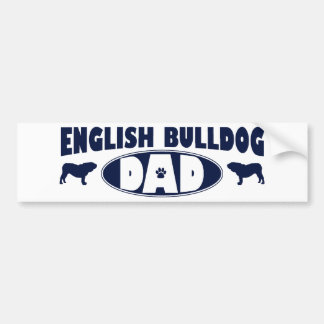 Papá inglés del dogo pegatina para auto