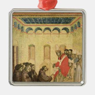 Papa Inocencio III Adorno Navideño Cuadrado De Metal