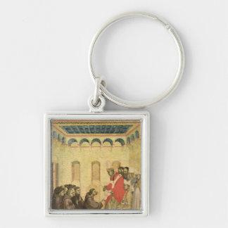 Papa Inocencio III Llavero Cuadrado Plateado