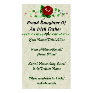 Papá irlandés tarjetas de visita