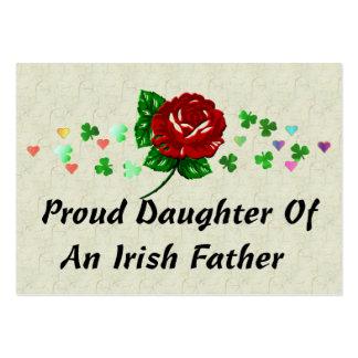 Papá irlandés tarjetas de visita grandes
