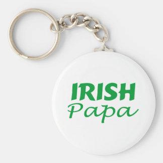 Papá irlandesa llavero redondo tipo pin