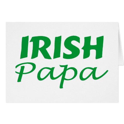 Papá irlandesa tarjeta de felicitación
