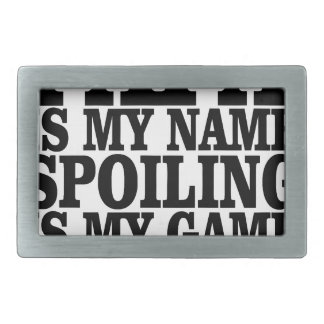 PAPA is my name SPOILING is my game T-shirts.png Rectangular Belt Buckle