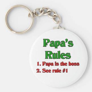 Papa Is The Boss Keychain