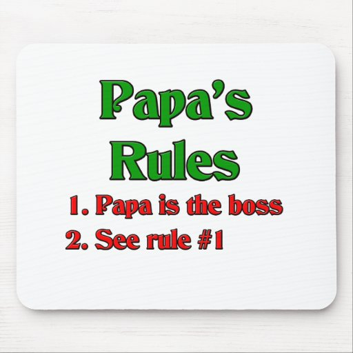 Papa Is The Boss Mouse Mat