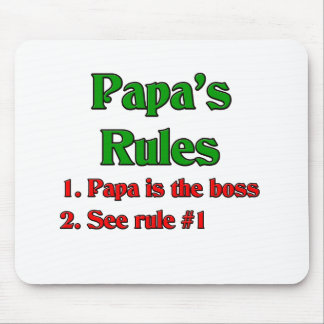Papa Is The Boss Mouse Pad