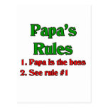 Papa Is The Boss Postcards