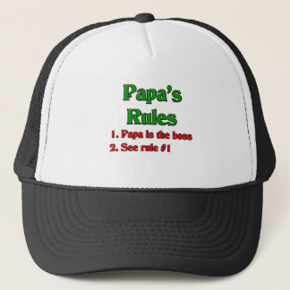 Papa Is The Boss Trucker Hat