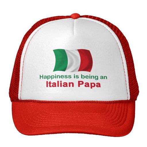 Papá italiana feliz gorra
