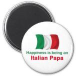 Papá italiana feliz imán de frigorífico