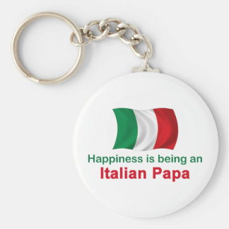 Papá italiana feliz llavero redondo tipo pin