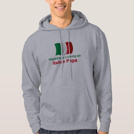 Papá italiana feliz sudaderas con capucha