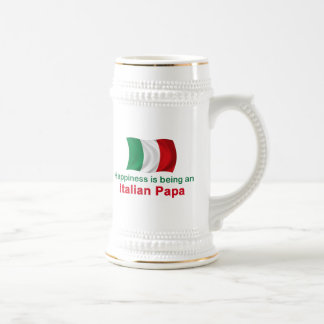 Papá italiana feliz tazas de café