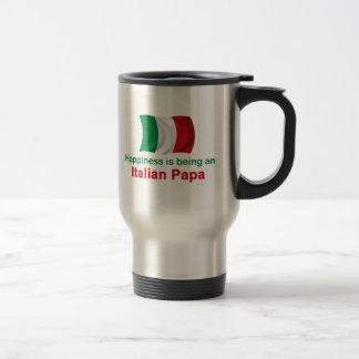 Papá italiana feliz taza térmica