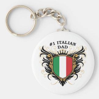 Papá italiano del número uno llavero