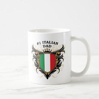 Papá italiano del número uno taza clásica