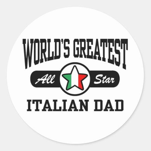Papá italiano pegatina redonda