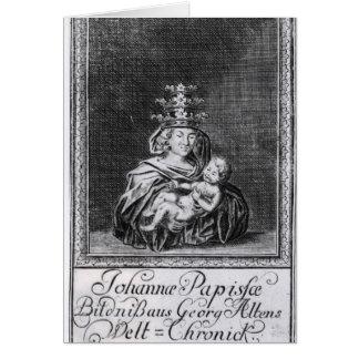 Papa Joan con su niño Felicitaciones