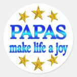 Papa Joy Classic Round Sticker
