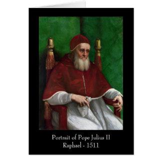 Papa Julio II por el saludo de Raphael Tarjeta De Felicitación