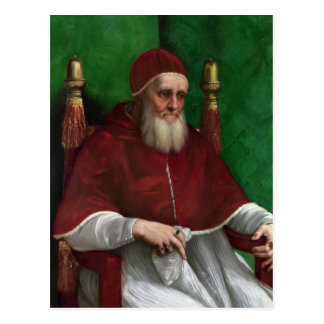 Papa Julio II por la postal de Raphael