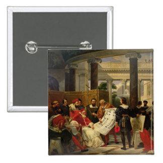 Papa Julio II que pide Bramante Pin Cuadrado