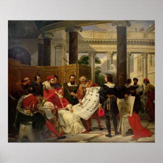Papa Julio II que pide Bramante Póster