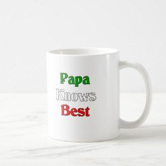 Papa Knows Best Coffee Mug