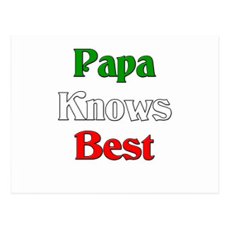 Papa Knows Best Postcard