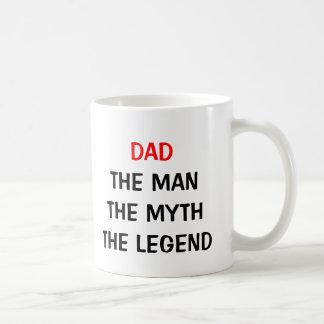 Papá la taza de la leyenda del mito del hombre