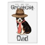 Papá largo de la chihuahua de la capa tarjeta de felicitación