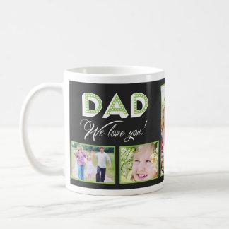 ¡Papá le amamos! Taza de encargo de la foto