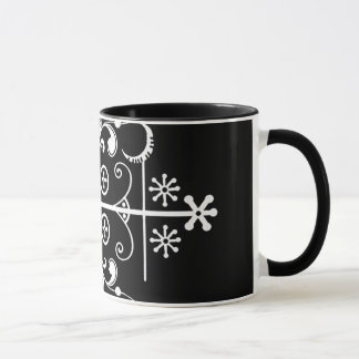 Papa Legba Veve Black Two-Tone 11 oz Art Mug