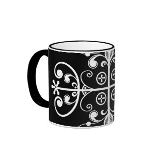 Papa Legba Veve Black Two-Tone 11 oz Art Mug