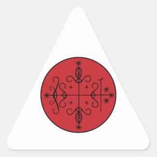 Papá Legba Veve Pegatina Triangular