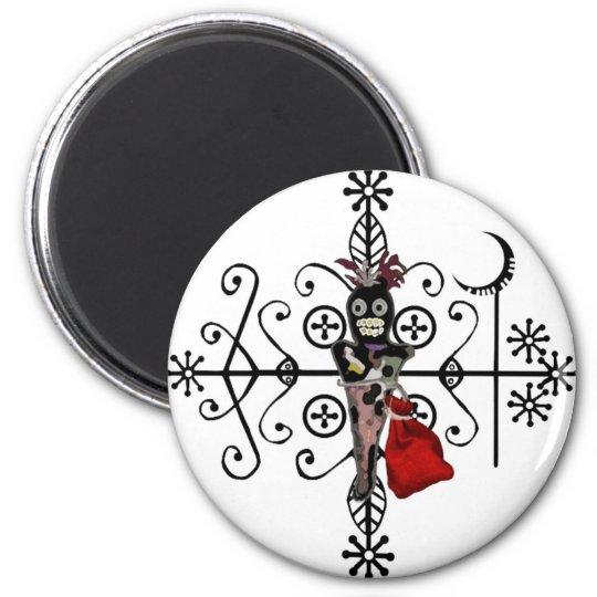Papa Legba Voodoo Doll Veve Magnet