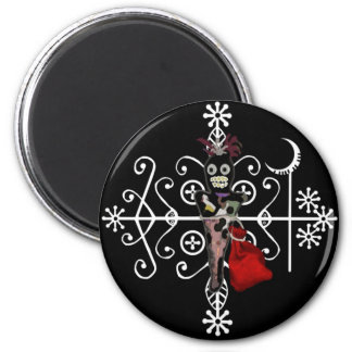 Papa Legba Voodoo Doll Veve Magnet