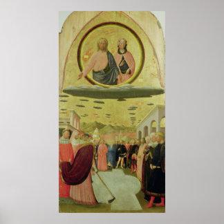 Papa Liberius Founding la basílica Póster
