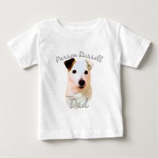Papá (liso) 2 de Russell Terrier del párroco Playera De Bebé