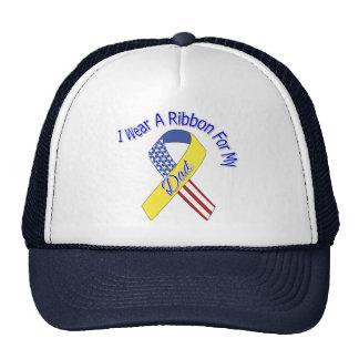 Papá - llevo un patriótico militar de la cinta gorras de camionero