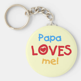 Papa Loves Me T-shirts and Gifts Keychain